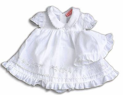 3tlg weißes Baby Kleid Set 48, 50, 56, First Size, Tiny Baby, newborn Baby Taufe