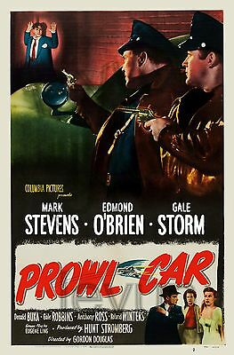 """Between midnight and down 1950 poster repro 16""""x24"""" Mark Stevens - E. O'Brien"""