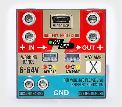 Low / Over voltage cut-off with USB 6-64V