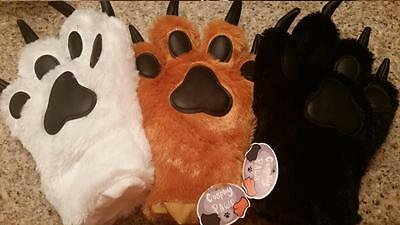 Cosplay Paws: White, Brown, Black