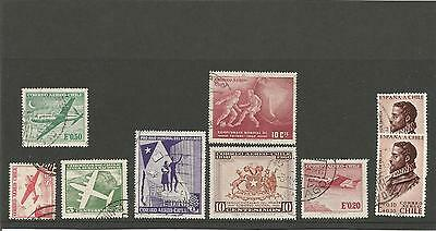 Chile  World Cup 1962 Alonso De Ercilla Spain Small Collection / Lot Used Stamps
