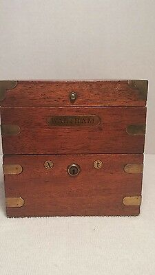 Waltham U.S. Navy Ship Deck Clock/Chronometer/Watch in Original Case - RUNS