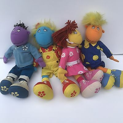 Bundle Of 4 Tweenies Plush Toys - Bella Milo Fizz Jake