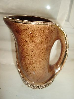 """4.5"""" High Brown Pottery Art Deco Style Jug"""