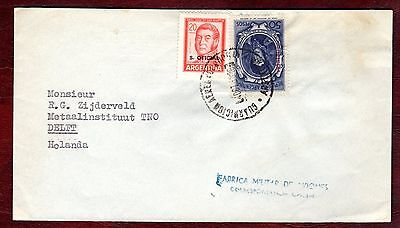 ARGENTINA STAMPS-Official stamps, cover from military base to Holland, 1968