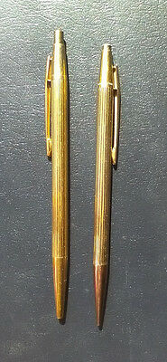 Set of Montblanc noblesse ballpoint pen and pencil gold plated