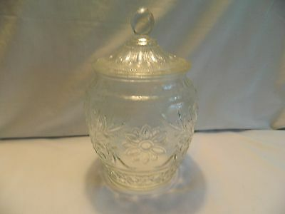Vintage Indiana Glass /anchor Hocking 10 Inch Clear Glass Biscuit Jar