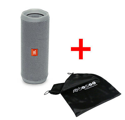 JBL Flip 4 WaterProof Portable Bluetooth Speaker (Grey) with Bonus Travel Bag!!