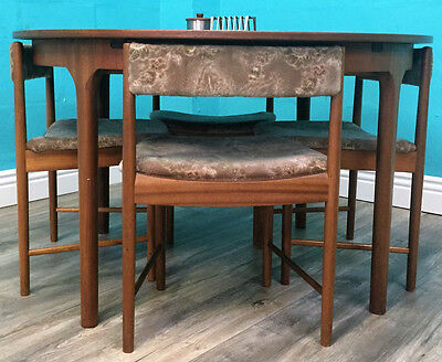 Mid Century Retro 70S Teak Mcintosh Dining Table And Chairs