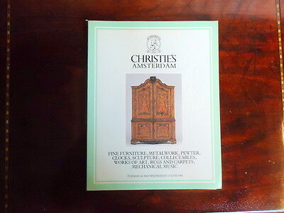 Christies Catalogue. Fine Furniture in Amsterdam. Wednesday 15th June 1988