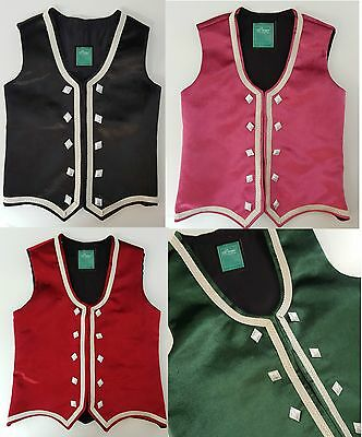 Handmade Highland Dance Vests with different lovely colors child to adult sizes