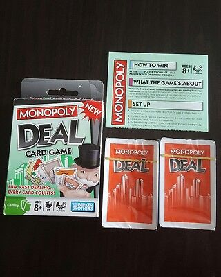 Hasbro Games Monopoly Deal Card Game 2-5 players NEW DECKS! (A)