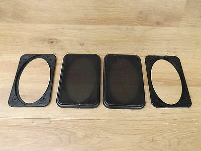 Porsche 944 - Black Meshed Front Door Speaker Covers & Mounts
