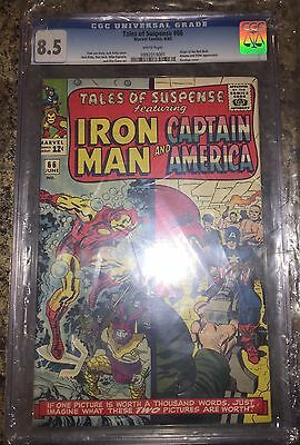 TALES OF SUSPENSE #66 CGC 8.5 Origin of Red Skull  CANADA SELLER white pages