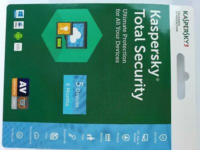 1X Kaspersky Total Security 5 devices 6 Months  2018