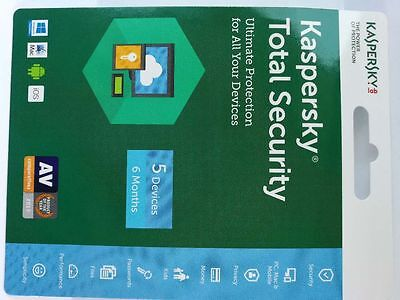Digital delivery Kaspersky Total Security 5 devices 6 Months  2019