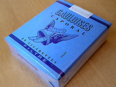 Rare and collectable Gauloises Caporal Cigarette Packet from the '80s, sealed.