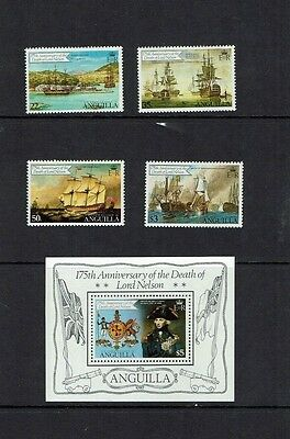 Anguilla, 1981 175th Anniversary of the death of Admiral Nelson, MNH set