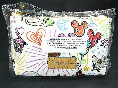 Dooney & Bourke DISNEY Sketch Cosmetic Bag CHESHIRE CAT & MICKEY & MINNIE MOUSE