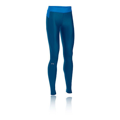 Under Armour HeatGear Womens Blue Compression Running Long Tights Bottoms