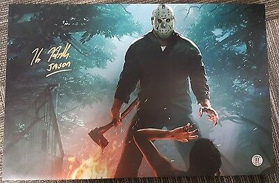 Kane Hodder Signed Friday the 13th New Video Game 12x18 - COA + Proof!