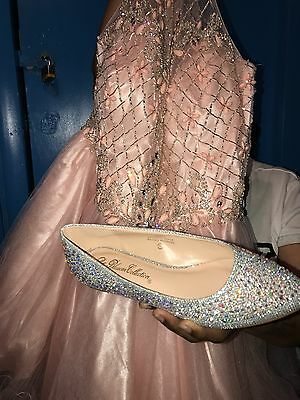 Beautiful sparkling Cinderella shoes , size 5 1/2