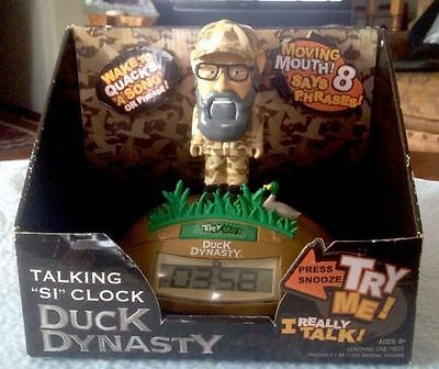 Wish Factory Duck Dynasty Talking Alarm Clock Uncle Si  NEW IN Box
