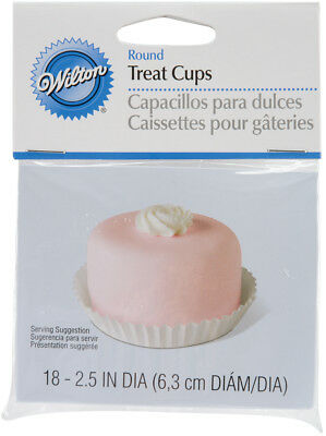 "Round Treat Cups White 18/Pkg 1.5"" W415908"
