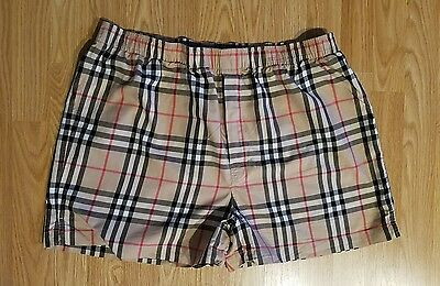 Mens Burberry Body Boxer Underwear Camel Beige Plaid Checked Shorts 2X New