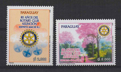 Paraguay-2008-Stamps-Rotary Club, 80Th Anniv.