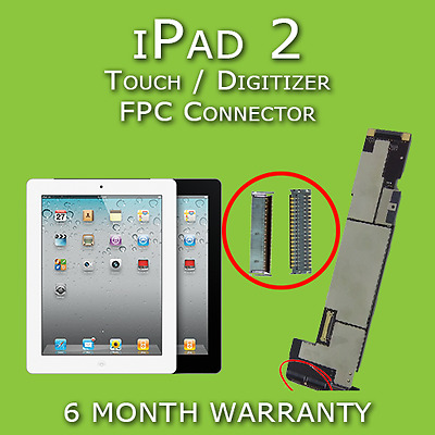 Apple iPad 2 No Touch Digitizer FPC Connector Replacement Repair Service