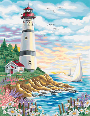 "Paint Works Paint By Number Kit 14""X11"" Lighthouse At Sunrise 91164"