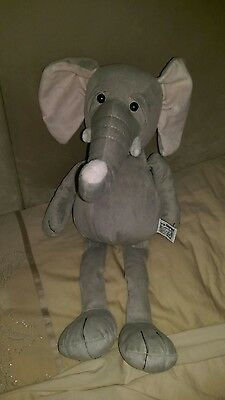 Lovely condition RUSS large grey Elephant soft toy 52cm