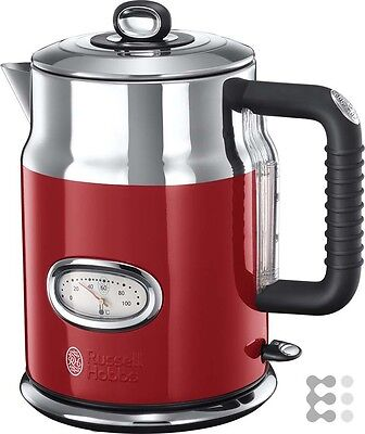 Russell Hobbs 21670-70 Retro Ribbon Red Wasserkocher mit stylischer