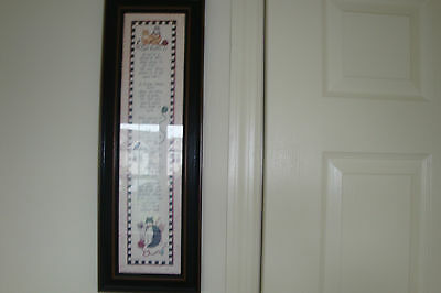 Framed wall hanging called cat rules!!