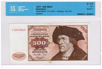 1977 - West Germany - 500 Mark Banknote - F-12