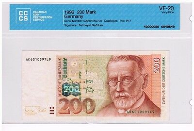 1996 - West Germany - 200 Mark Banknote - VF-20