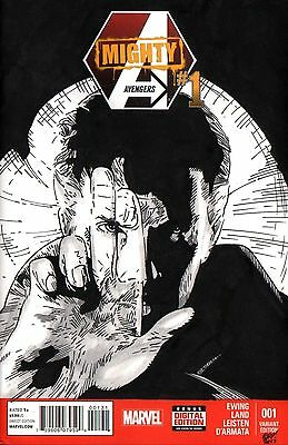 Doctor Strange Original Art Sketch Cover Mighty Avengers #1