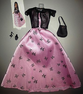1999 Barbie Fashion Avenue Dazzle #24498 Butterfly Ball pink gown Complete, Ex+