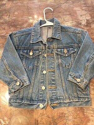 Vintage Disney Denim Jacket 5T 6T Characters Mickey Rare Youth