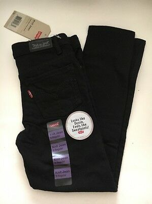 Levis Kids Girl Skinny Jeans Black NWT Size Regular 6,7,8,10,12 & 14 / NWT