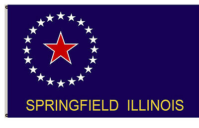 Illinois banner City of Springfield Flag 3x5ft banner