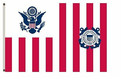 Maritime banner Ensign of the Coast Guard flag 3x5ft