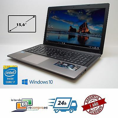 "Portátil Laptop Asus A55A 15,6"" Intel Core i7-3630QM 8GB 500GB Windows 10"