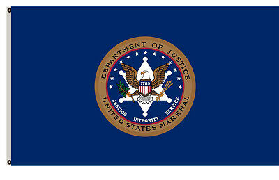 Department of Justice banner the Marshals Service flag 3x5ft banner