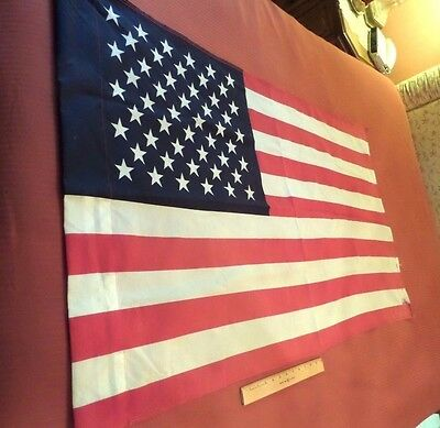 Vintage Cotton/polyester American 50-Star Flag, 30X50, Annin & Co., Made In Usa