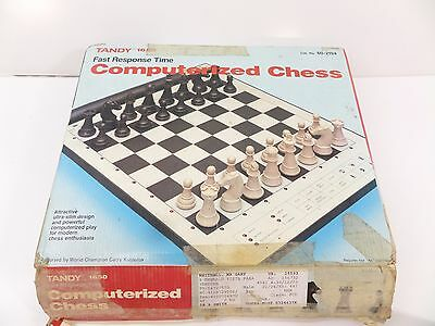Tandy 1650 Electronic Computer Chess  Scisys  Concord  1985 S7