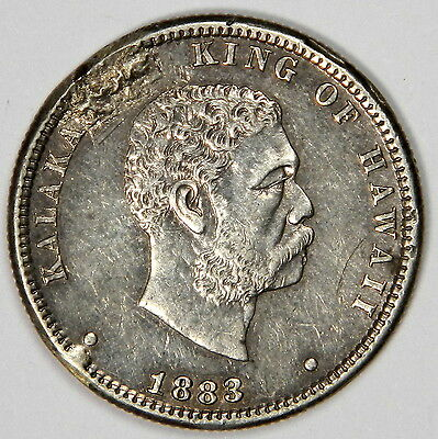 1883 Kingdom Of Hawaii Quarter -  Xf Details Priced Right!