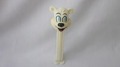 PEZ  Footed WHITE ICEE POLAR BEAR 1998 Candy Dispenser   4.9 Hungary   (z1115)
