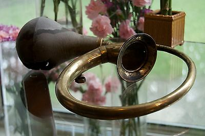 Antique Ford Car Horn Vintage Brass Authentic with mount